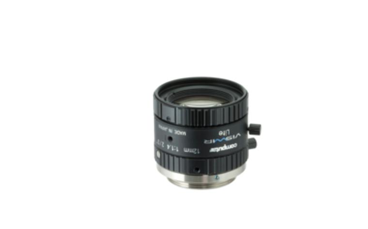 "Computar M1214-VSW 2/3"" 12mm F1.4 Manual Iris C-Mount Lens, Visiblet-Short Wave IR, Singleband Use, 6 Megapixel Rated"