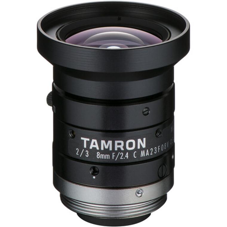 "Tamron MA23F08V 2/3"" 8mm F2.4 Manual Iris C-Mount Lens, Compact Design, 8 MP Rated"