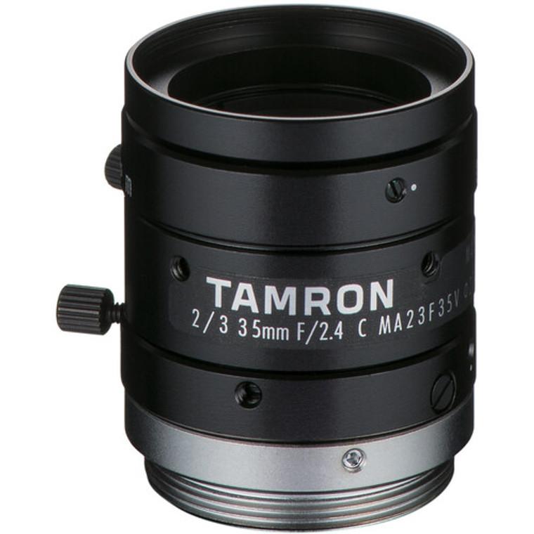 "Tamron MA23F35V 2/3"" 35mm F2.4 Manual Iris C-Mount Lens, Compact Design, 8 MP Rated"