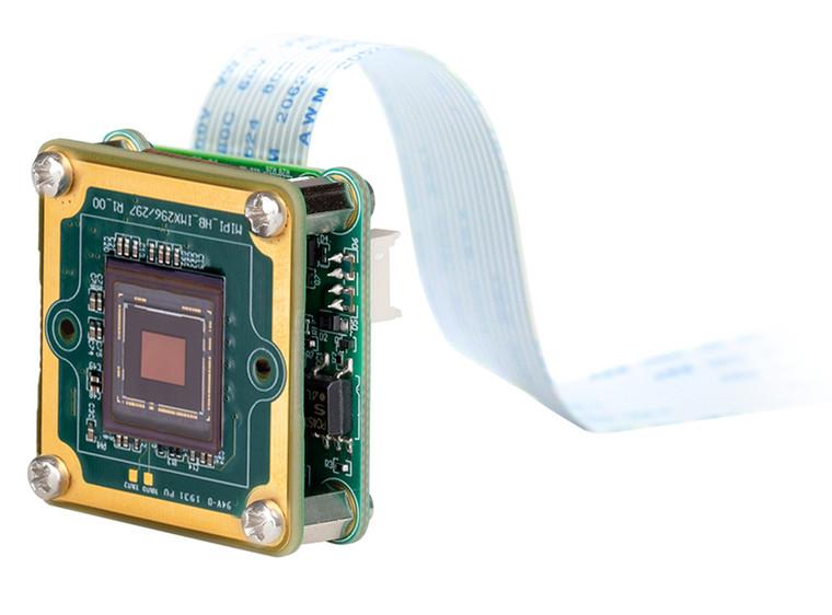 "The Imaging Source DMM 37AX296-ML 1/2.9"" Progressive Scan Monochrome CMOS (IMX296) Board Camera, 1.6 Megapixels, 60 fps, MIPI CSI-2 Interface"