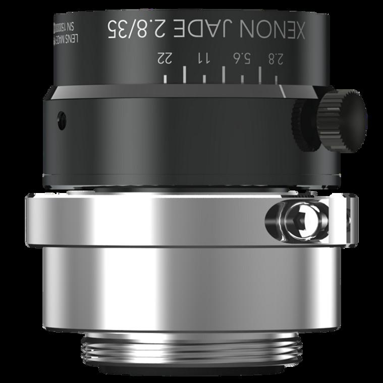 "Schneider Optics 27-1992735 Xenon-Jade 1.2"" 35mm F2.8 Manual Iris C-Mount Lens, Broadband Coated (400-1000nm), 25 MP Rated, Ruggedized Version"