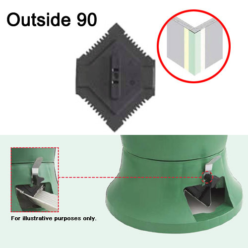 USG Sheetrock Hopper Gate - Outside 90 Corner Bead (USG-340318)