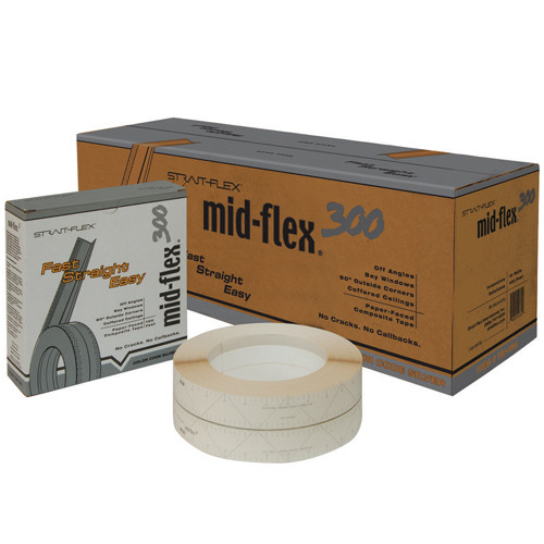 StraitFlex Mid-Flex 300 Paper-Faced Composite Tape - 100 Rl, Case of 10 Rolls (STRA-MF-100-C)