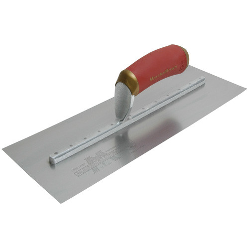"Marshalltown 11 1/2 X 4 3/4 PermaShape ""Flat"" Stainless Steel Finishing Trowel w/ DuraSoft Handle (MARS-4SSFPD)"