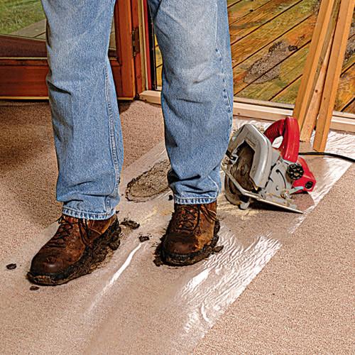 Surface Shields CARPET SHIELD Self-Adhering Carpet Film, 36 in. x 200 ft. Rev. Wound Roll (SURF-CS36200)