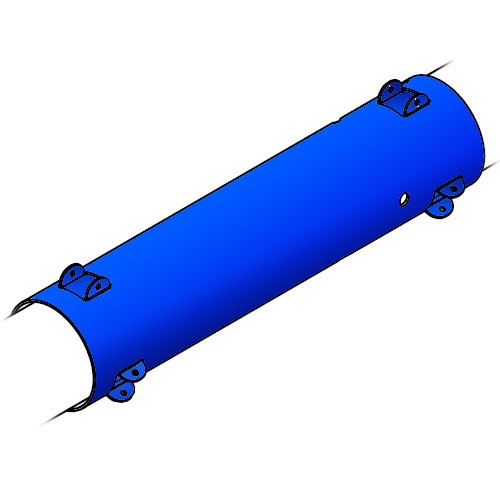 Blue Line USA Control Tube (Anodized) (BLUE-AT227A)