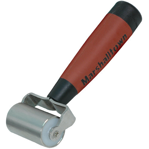 """Marshalltown 2"""" Flat Commercial Grade Stainless Steel Seam Roller-DuraSoft Handle (MARS-E225D)"""
