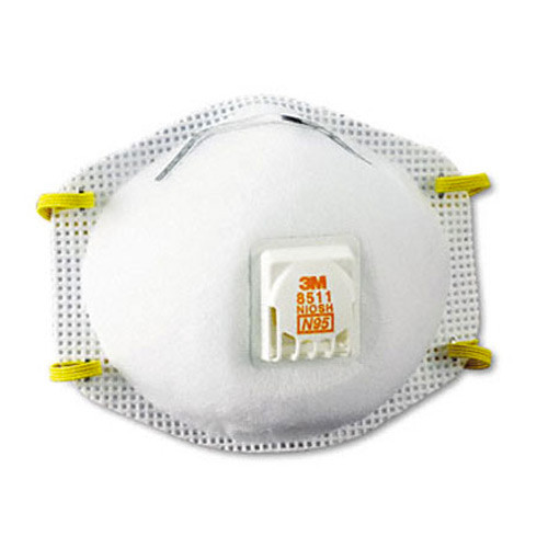 3M 8511 N95 Particulate Respirator Dust Masks - 10 Pack
