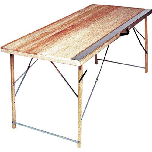 "Advance 5' Folding Paste Table, with zinc plate - 16"" closed, 32"" open (ADVA-35Z-5)"