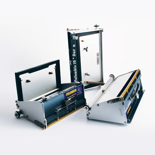 Columbia Quick Clean Flat Box shown in 7-inch, 8-inch, and 10-inch sizes