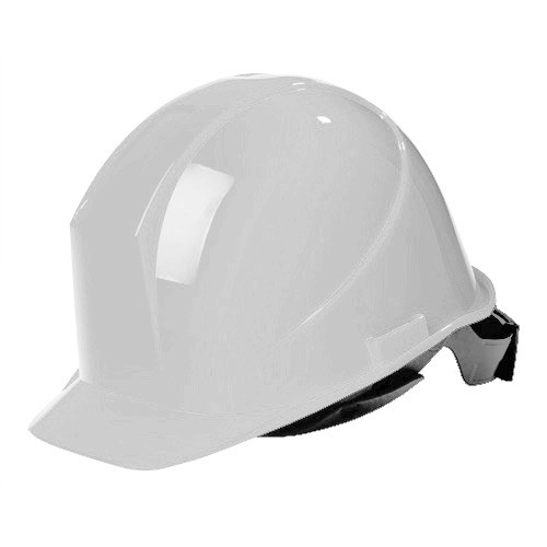 White Hard Hat with Ratchet (SURP-HAH01W)