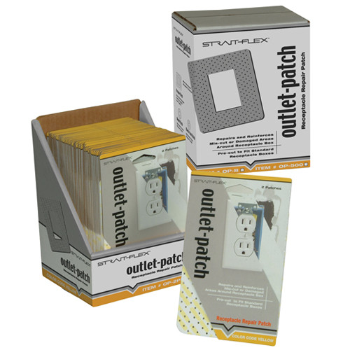 StraitFlex Outlet-Patch Electrical Outlet Patch 100 Pk (STRA-OP-100PK)