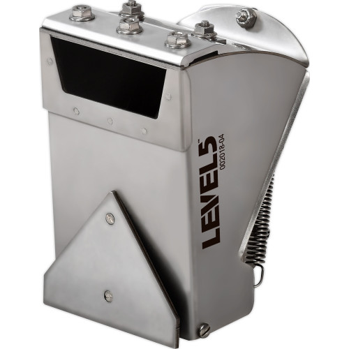 Side view of the Level 5 3 in. Nail Spotter made from durable stainless steel construction