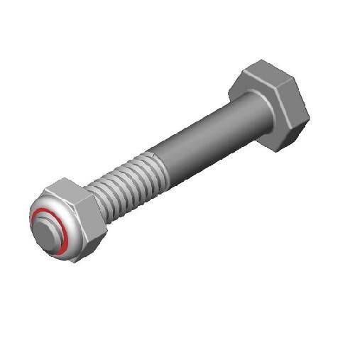 Dura-Stilts III 1/4-20x1 1/2 Cap Screw W/Hex Nut (DURA-32)