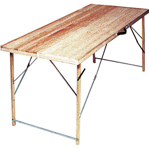 "Advance 6' Folding Paste Table - 12"" closed, 24"" open"