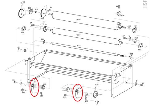 Advance 834 Adjusting Lever (ADVA-A834)