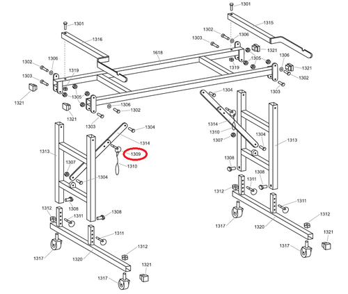 """Advance 1309 1"""" Locking Pin (ADVA-1309)"""