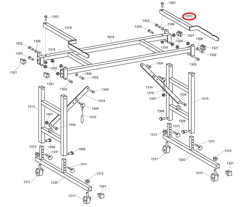 Advance Material Shaft Support Bracket R.H. for Heavy Duty Pasting Machines (ADVA-A1315)