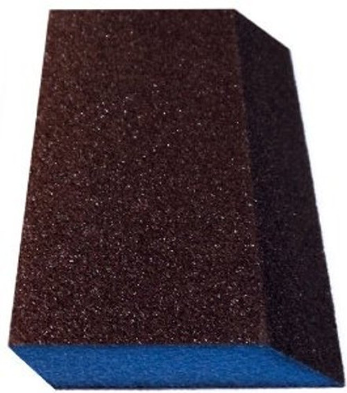 Webb Double Slant Blue Block Drywall Sanding Sponges, Medium (WEBB-DS-M-G)