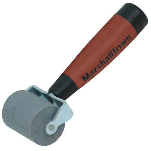 "Marshalltown 2"" Flat Commercial Grade Solid Rubber Seam Roller-DuraSoft Handle (MARS-E54D)"
