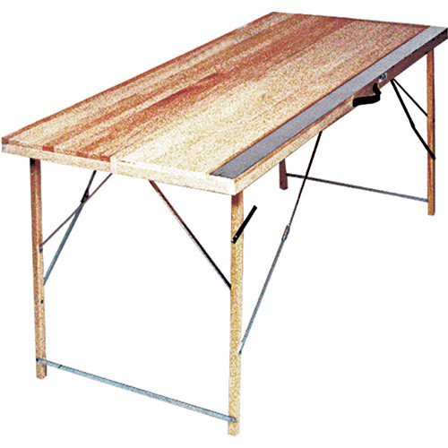 "Advance 6' Folding Paste Table, with aluminum plate - 16"" closed, 32"" open (ADVA-36Z-6)"