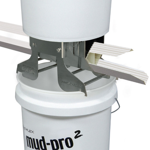 StraitFlex Mud-Pro 2 Mounted, Compound Applicator with Two 5 Gallon Buckets (STRA-MP2-MOUNTED)