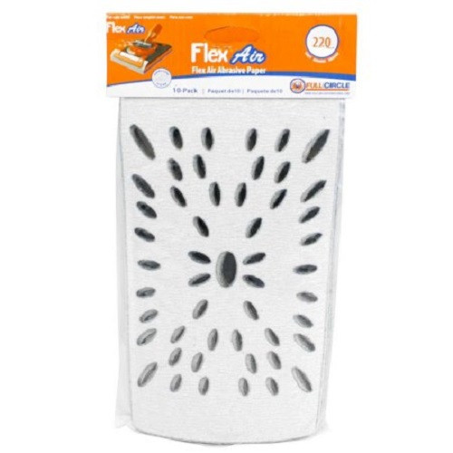Full Circle 220 Grit Flex Air Stearated Sandpaper Sheet for Flex Air - 10 pack (FULL-FLEXAIR 220)