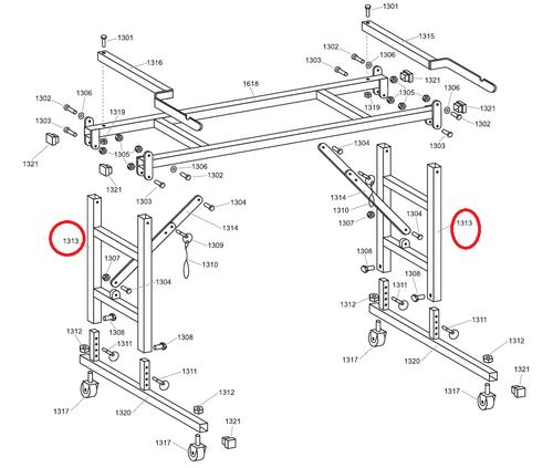 Advance 1313 Roller Stand Leg (ADVA-1313)