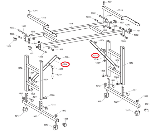 Advance 1314 Roller Stand Brace (ADVA-1314)