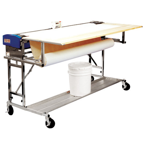 Advance 62 in. Paste Mate Heavy Duty Complete Pasting Machine comes with Rolling Stand, Two-Wheel Measuring Counter, Booking Table, and Transportation Shelf (Model B562-HD)