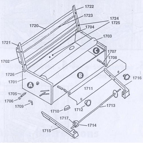 Advance A1713 Quikpaster Material Support Shaft (ADVA-A1713)