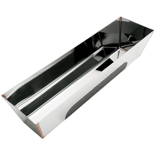"""Advance 14"""" Contoured Bottom Stainless Steel Heliarc Mud Pans with No Slip Grip 14HRG"""