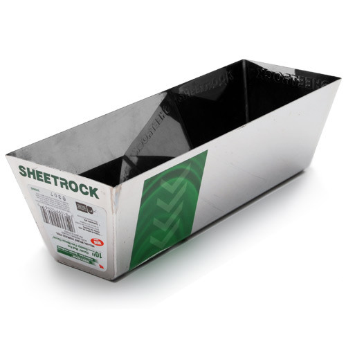 "USG Sheetrock 12"" Classic Heli-Arc Stainless Steel Round Bottom Mud Pan 340406"