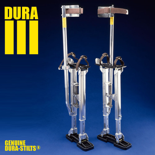 Dura-Stilt III Adjustable Aluminum Drywall Stilts (DURA-D14-22, D18-30, D24-40)
