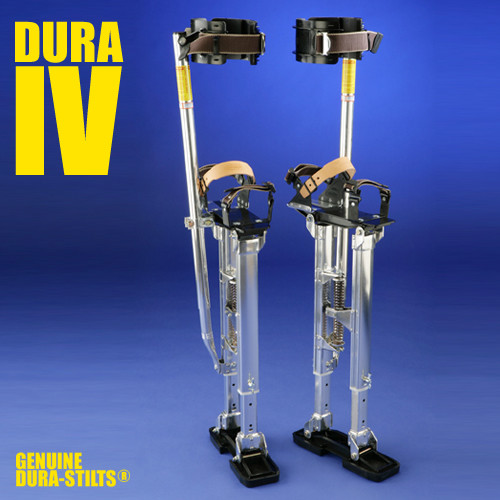 Dura-Stilt IV Adjustable Aluminum Drywall Stilts (DURA-14-22, 18-30, 24-40)