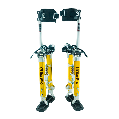 SurPro Single Sided QuadLock Magnesium Drywall Stilts 24-40 in.