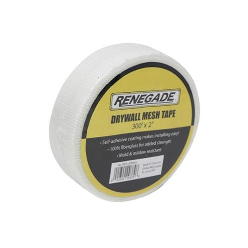 Renegade Fiberglass Mesh Tape 2 in. x 300 ft. - White (RGD-MDT2300)