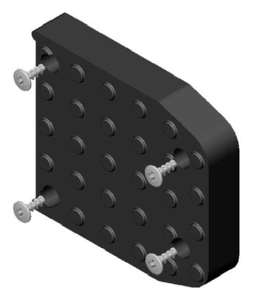 Dura-Stilts III Replacement Sole Set W/Screws (DURA-446)