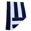 Cotton Beach Towel Navy Folded