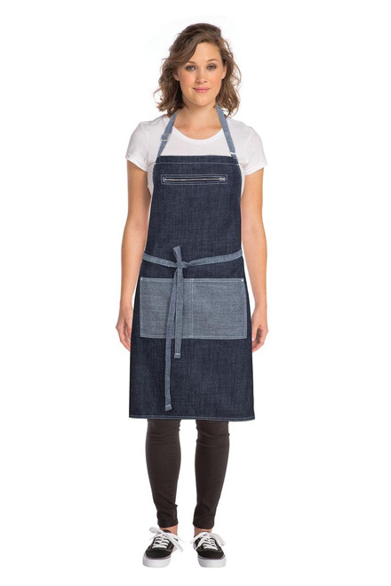 Manhattan Denim Bib Apron