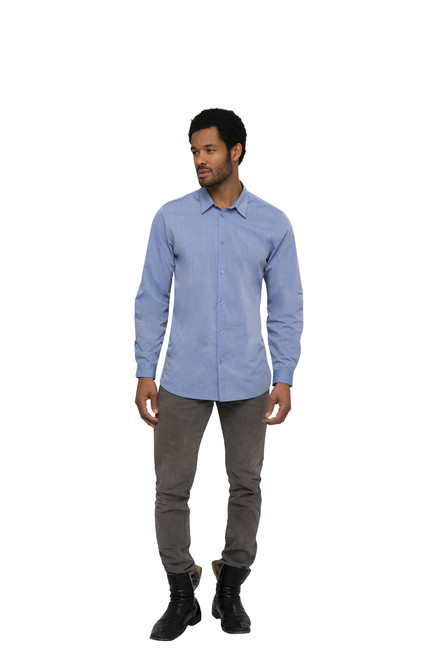Modern Chambray Dress Shirt