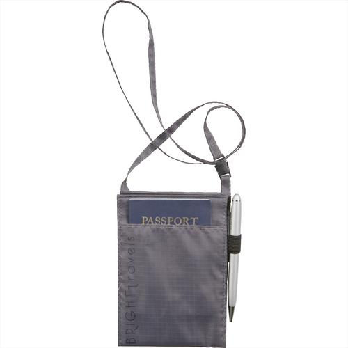 BRIGHTtravels RFID Passport Wallet with Lanyard