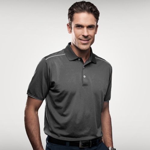 Sporte Leisure Mens Dri-Sporte™ Bond Polo Charcoal