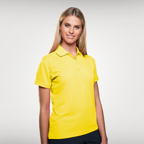 Sporte Leisure Ladies Aero Polo Shirts in Lemon, for your company or team logo. Sophisticated Lifestyle Apparel keeps your team or company looking their best. Sporte Leisure Aero Polo's are available in 13 colours. A fantastic polo and great value for company uniforms, trade shows, events, golf day's & retail.