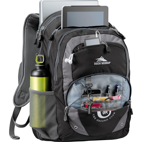 High Sierra Overtime Fly-By 17inch  Compu-Backpack - Custom branded by Supply Crew