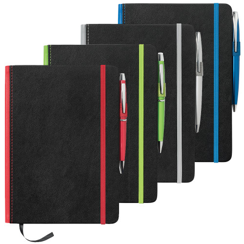 A5 Barranco JournalBook with Coloured Spine - Custom branded by Supply Crew