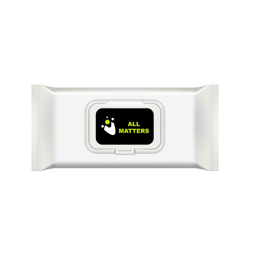 75% Alcohol Hand Wipes White, with custom branding