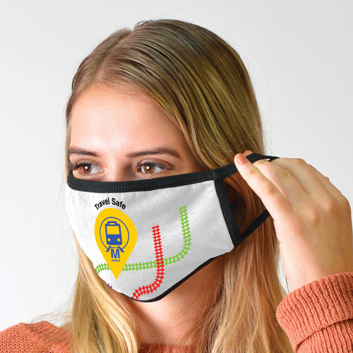 3 Layer Cotton Face Mask with Custom Branding