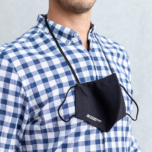 Reusable hygienic face mask with integrated neck band