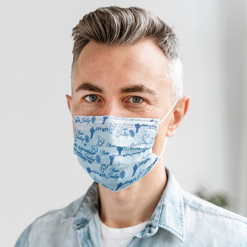 3 Ply Printed Surgical Face Mask model image